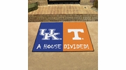 "Fan Mats 15584  Kentucky Wildcats vs Tennessee Volunteers 33.75"" x 42.5"" House Divided Mat"