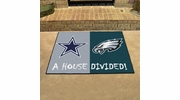 "Fan Mats 15665  NFL - Dallas Cowboys vs Philadelphia Eagles 33.75"" x 42.5"" House Divided Mat"