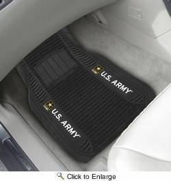 "Fan Mats 15684  U.S. Army 21"" x 27"" Deluxe Car Mat Set"