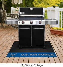 "Fan Mats 15726  U.S. Air Force 26"" x 42"" Grill Mat"