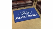Fan Mats 15748  Ford Racing on Blue 4' x 6' Area Rug