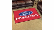 Fan Mats 15749  Ford Racing on Red 4' x 6' Area Rug