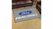Fan Mats 15750  Ford Racing on Gray 4' x 6' Area Rug
