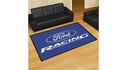 Fan Mats 15758  Ford Racing on Blue 5' x 8' Area Rug