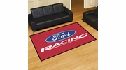 Fan Mats 15759  Ford Racing on Red 5' x 8' Area Rug