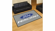 Fan Mats 15760  Ford Racing on Gray 5' x 8' Area Rug
