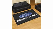 Fan Mats 15761  Ford Racing on Black 5' x 8' Area Rug