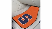 "Fan Mats 15952  Syracuse University Orange 17"" x 27"" 2-pc Carpet Car Mat Set"