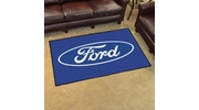 Fan Mats 16052  Ford Oval on Blue 4' x 6' Area Rug