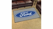 Fan Mats 16054  Ford Oval on Gray 4' x 6' Area Rug