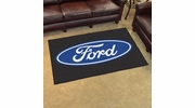 Fan Mats 16055  Ford Oval on Black 4' x 6' Area Rug