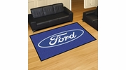 Fan Mats 16062  Ford Oval on Blue 5' x 8' Area Rug