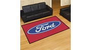 Fan Mats 16063  Ford Oval on Red 5' x 8' Area Rug