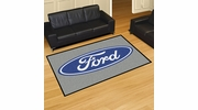 Fan Mats 16064  Ford Oval on Gray 5' x 8' Area Rug