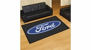 Fan Mats 16065  Ford Oval on Black 5' x 8' Area Rug
