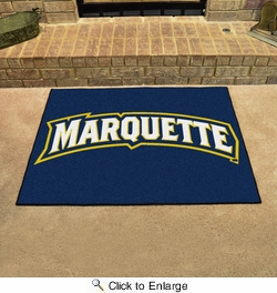 "Fan Mats 1607  Marquette University Golden Eagles 33.75"" x 42.5"" All-Star Series Area Rug / Mat"