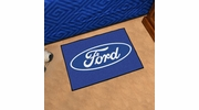 "Fan Mats 16072  Ford Oval on Blue 19"" x 30"" Starter Mat"