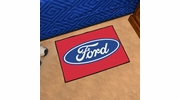 "Fan Mats 16073  Ford Oval on Red 19"" x 30"" Starter Mat"
