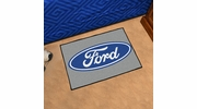 "Fan Mats 16074  Ford Oval on Gray 19"" x 30"" Starter Mat"