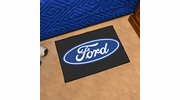 "Fan Mats 16075  Ford Oval on Black 19"" x 30"" Starter Mat"