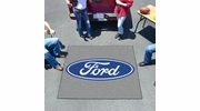 Fan Mats 16084  Ford Oval on Gray 5' x 6' Tailgater Mat