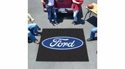 Fan Mats 16085  Ford Oval on Black 5' x 6' Tailgater Mat
