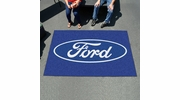 Fan Mats 16092  Ford Oval on Blue 5' x 8' Ulti-Mat