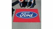 Fan Mats 16093  Ford Oval on Red 5' x 8' Ulti-Mat