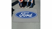 Fan Mats 16094  Ford Oval on Gray 5' x 8' Ulti-Mat