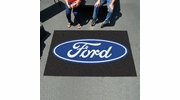 Fan Mats 16095  Ford Oval on Black 5' x 8' Ulti-Mat
