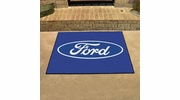 "Fan Mats 16102  Ford Oval on Blue 33.75"" x 42.5"" All Star Mat"