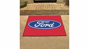 "Fan Mats 16103  Ford Oval on Red 33.75"" x 42.5"" All Star Mat"