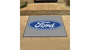 "Fan Mats 16104  Ford Oval on Gray 33.75"" x 42.5"" All Star Mat"