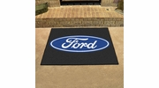 "Fan Mats 16105  Ford Oval on Black 33.75"" x 42.5"" All Star Mat"