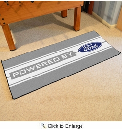 "Fan Mats 16189  Ford Oval with Stripes on Gray 30"" x 72"" Runner Mat"