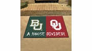 "Fan Mats 16218  Baylor Bears vs Oklahoma Sooners 33.75"" x 42.5"" House Divided Mat"