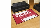 Fan Mats 16297  Ford - Boss 302 on Red 5' x 8' Area Rug