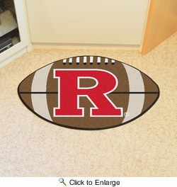 "Fan Mats 1630  Rutgers University Scarlet Knights 20.5"" x 32.5"" Football Shaped Area Rug"