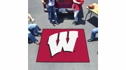 Fan Mats 1641  University of Wisconsin Badgers 5' x 6' Tailgater Mat / Area Rug