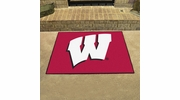 "Fan Mats 1642  University of Wisconsin Badgers 33.75"" x 42.5"" All-Star Series Area Rug / Mat"