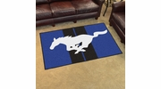 Fan Mats 16647  Ford - Mustang Horse on Blue 4' x 6' Area Rug