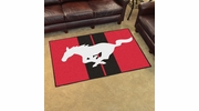 Fan Mats 16648  Ford - Mustang Horse on Red 4' x 6' Area Rug