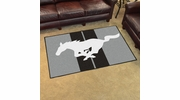 Fan Mats 16649  Ford - Mustang Horse on Gray 4' x 6' Area Rug