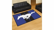 Fan Mats 16656  Ford - Mustang Horse on Blue 5' x 8' Area Rug