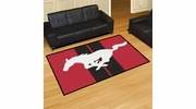Fan Mats 16657  Ford - Mustang Horse on Red 5' x 8' Area Rug