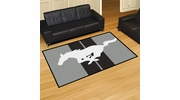 Fan Mats 16658  Ford - Mustang Horse on Gray 5' x 8' Area Rug