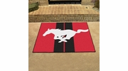 """Fan Mats 16675  Ford - Mustang Horse on Red 33.75"""" x 42.5"""" All Star Mat"""