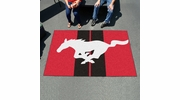 Fan Mats 16693  Ford - Mustang Horse on Red 5' x 8' Ulti-Mat