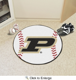 "Fan Mats 16829  Purdue University Boilermakers 27"" diameter Baseball Mat"