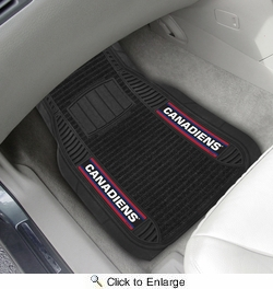 "Fan Mats 17035  NHL - Montreal Canadiens 21"" x 27"" Deluxe Car Mat Set"